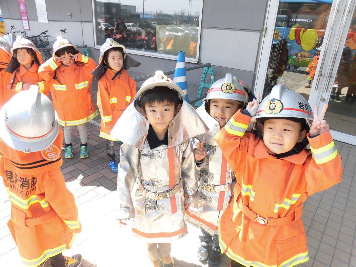 幼年消防の活動をしてきましたよ♪(年長組)