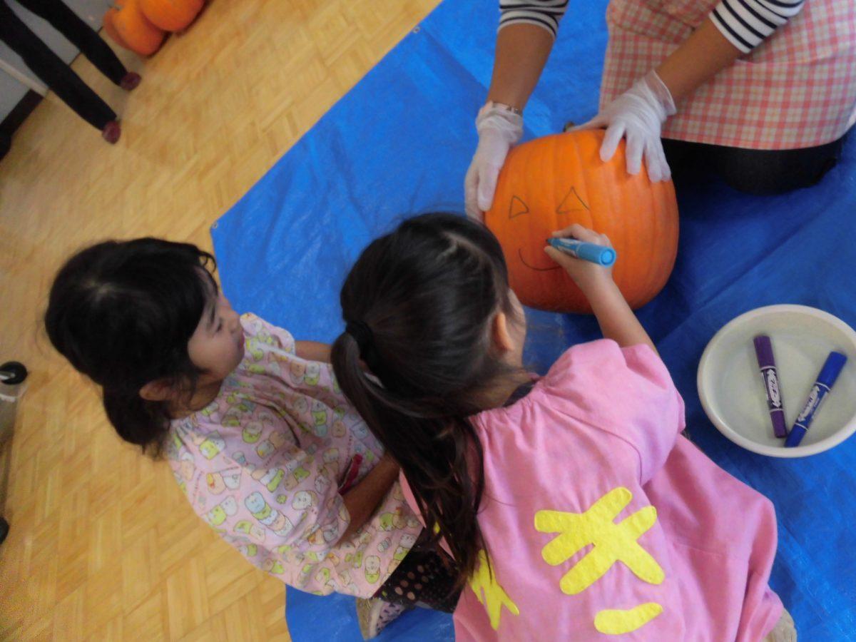 ハロウィンかぼちゃ作り&おにぎり試食会