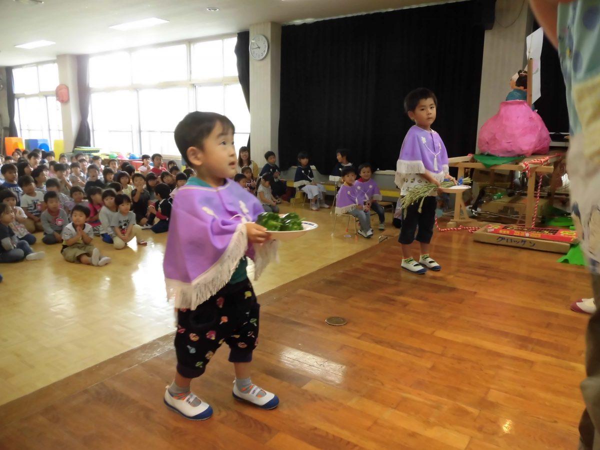 収穫祭と実習生お別れ会