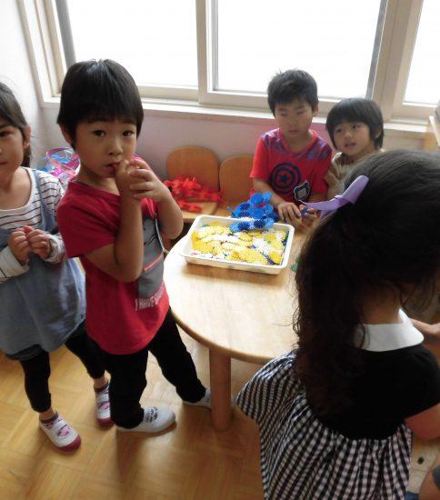 今日からまた元気に幼稚園が始まりました!